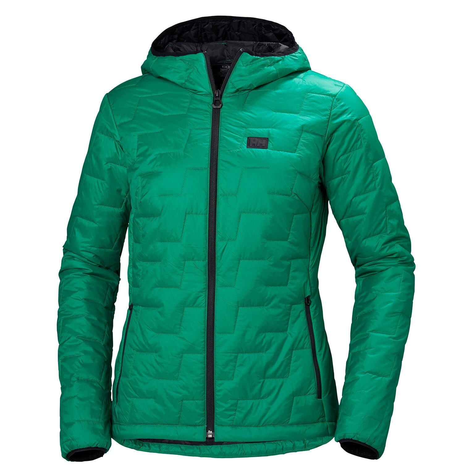 Helly Hansen W Lifaloft Hooded Insulator Jacket Womens Fleece Green L
