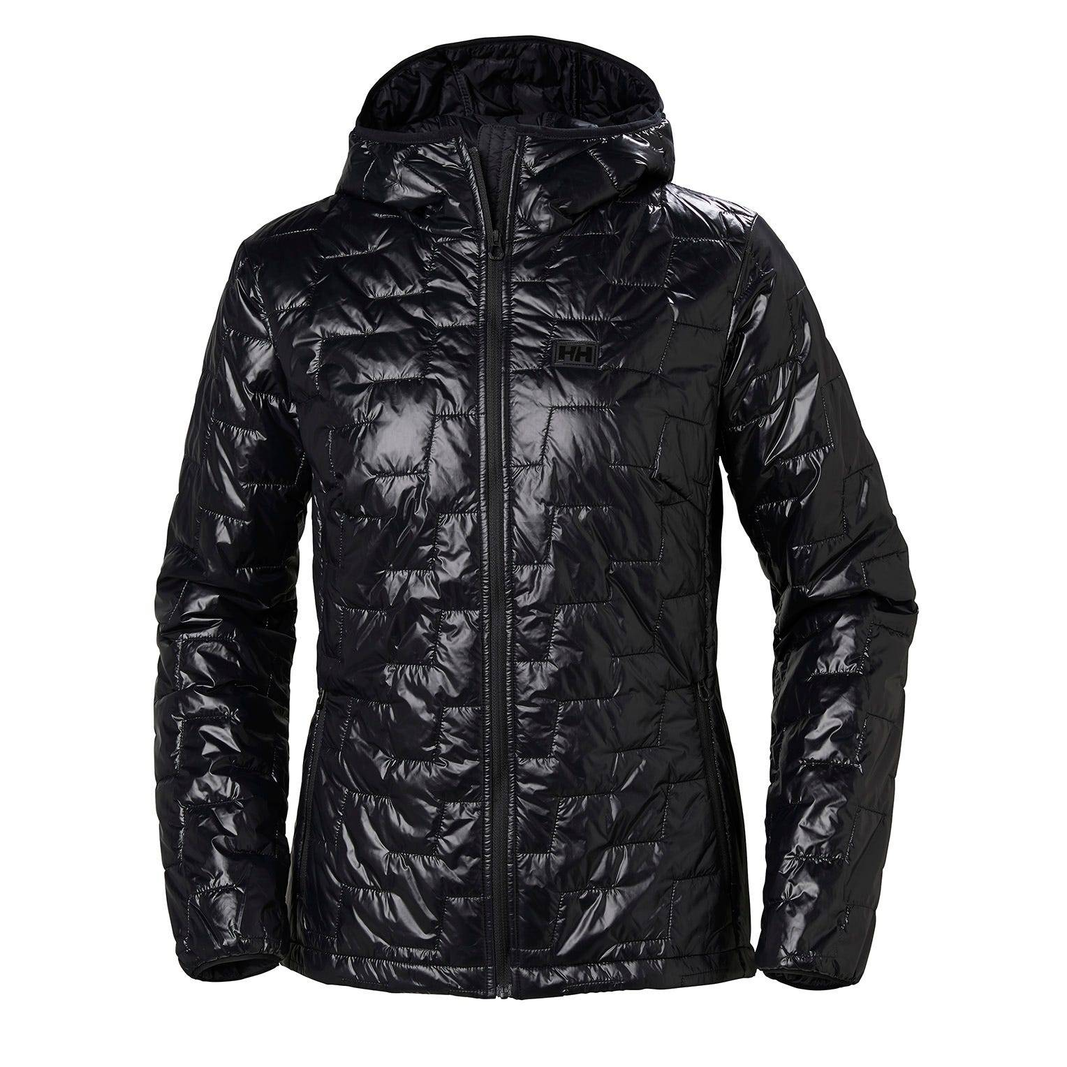 Helly Hansen W Lifaloft Hooded Insulator Jacket Womens Midlayer Black XL