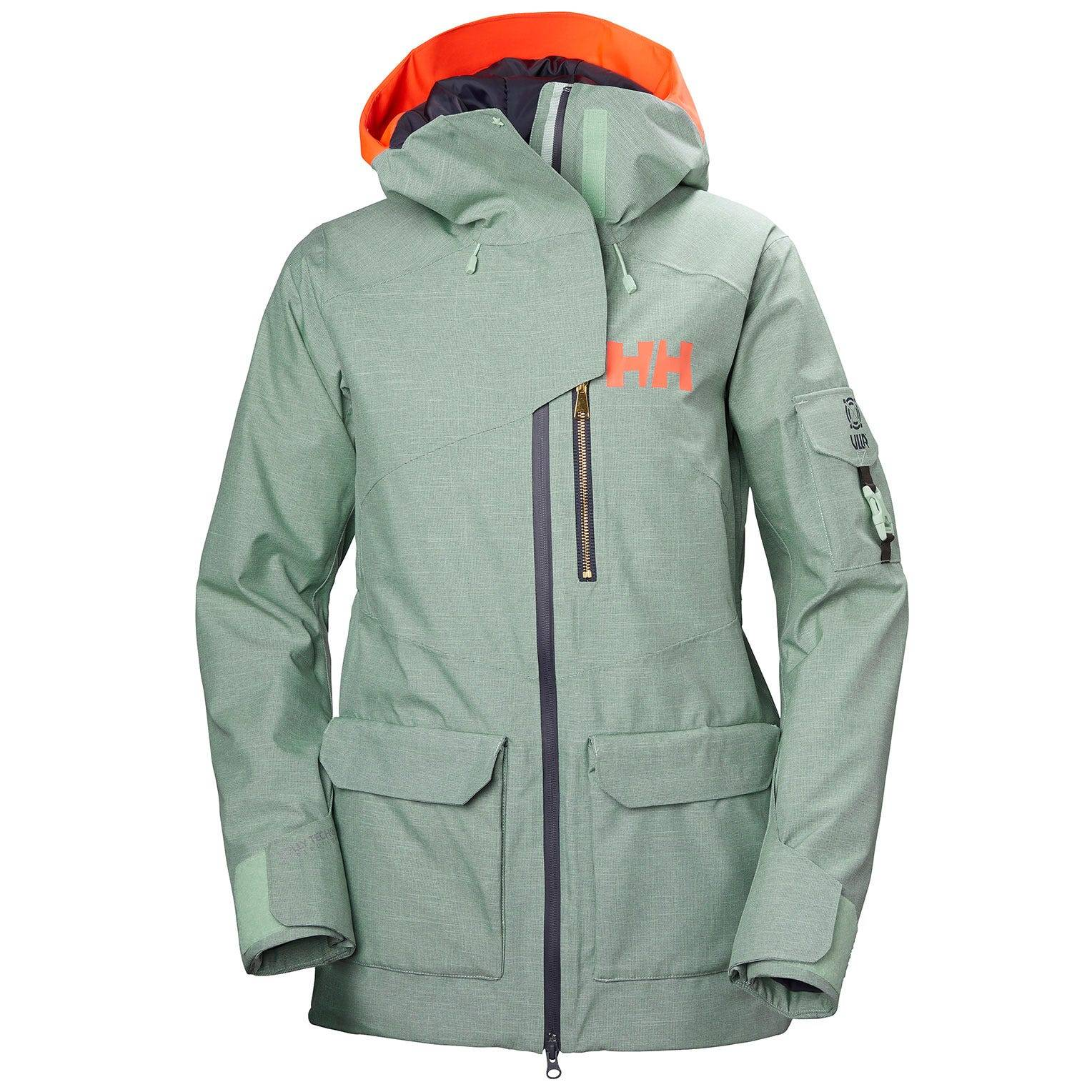 Helly Hansen W Powderqueen 2.0 Jacket Womens Fleece Blue XL