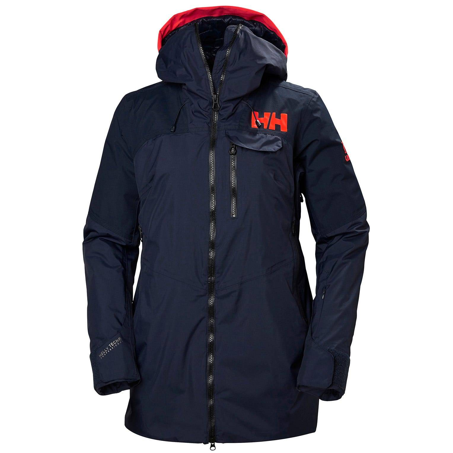 Helly Hansen W Whitewall Lifaloft Jacket Womens Midlayer Navy M