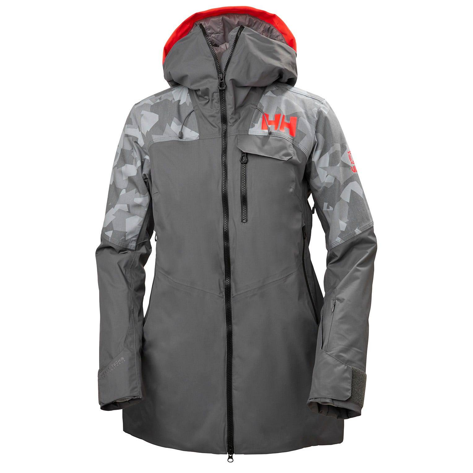 Helly Hansen W Whitewall Lifaloft Jacket Womens Midlayer Grey M