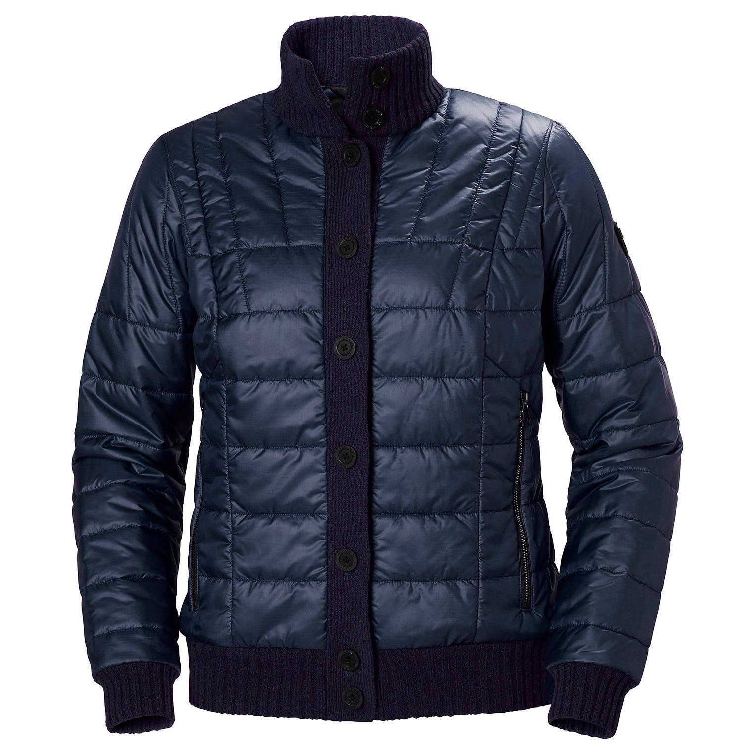 Helly Hansen W Hod Hybrid Knit Jacket Womens Midlayer Navy S