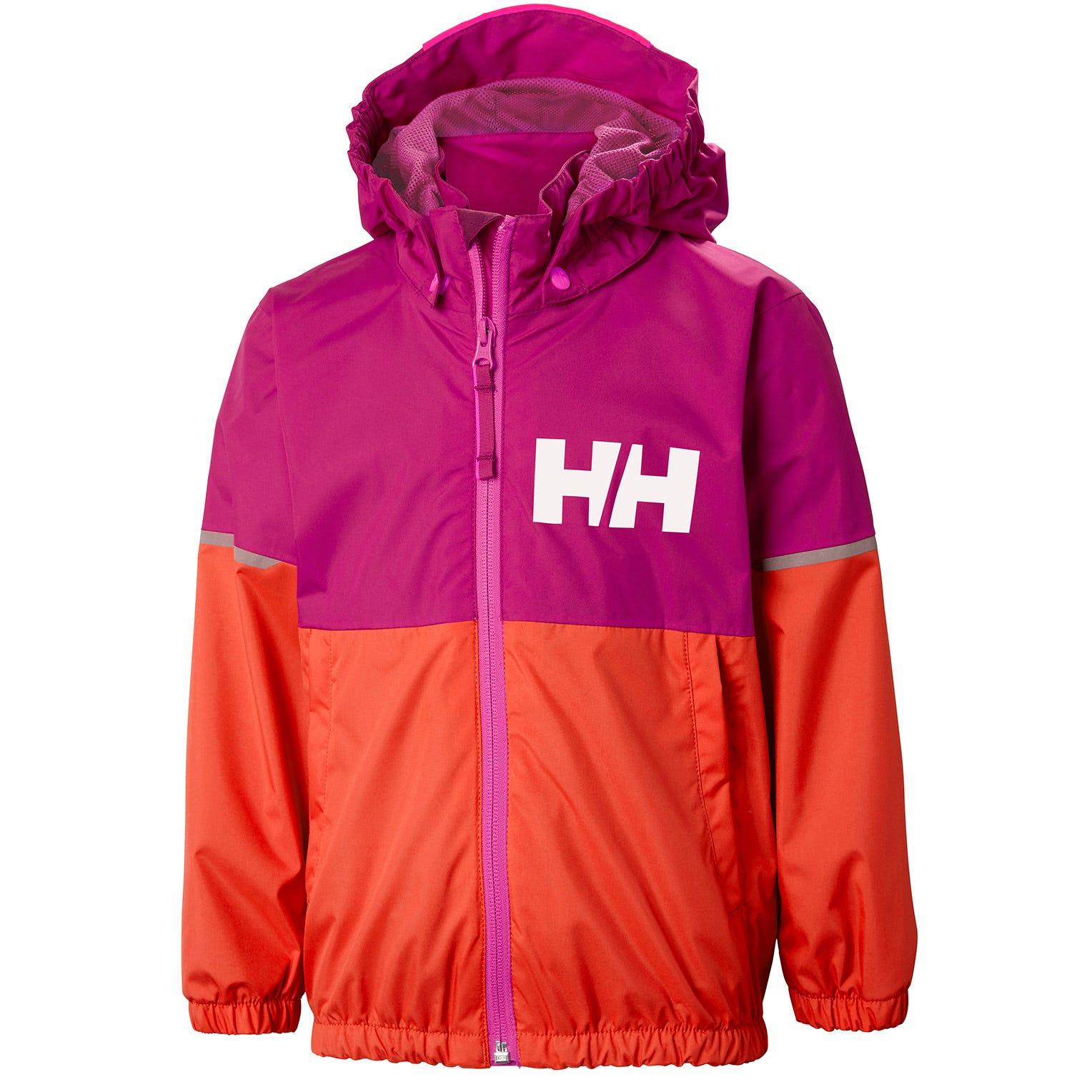 Helly Hansen Kids Block It Rain Jacket Pink 122/7
