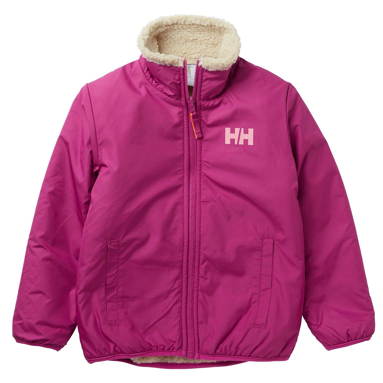Helly Hansen Kids Reversible Pile Jacket Parka Yellow 116/6