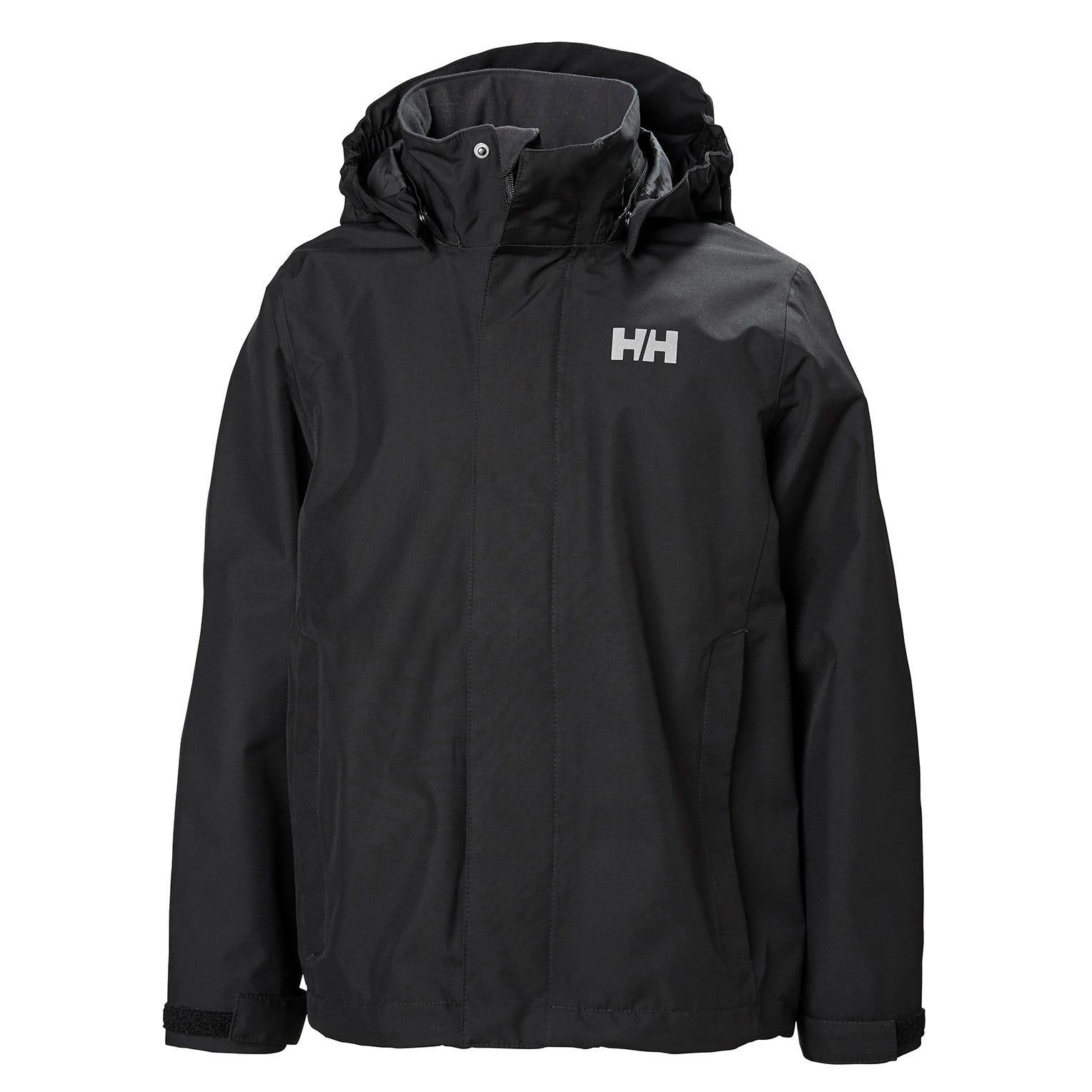 Helly Hansen Junior Seven J Jacket Kids Rain Black 128/8