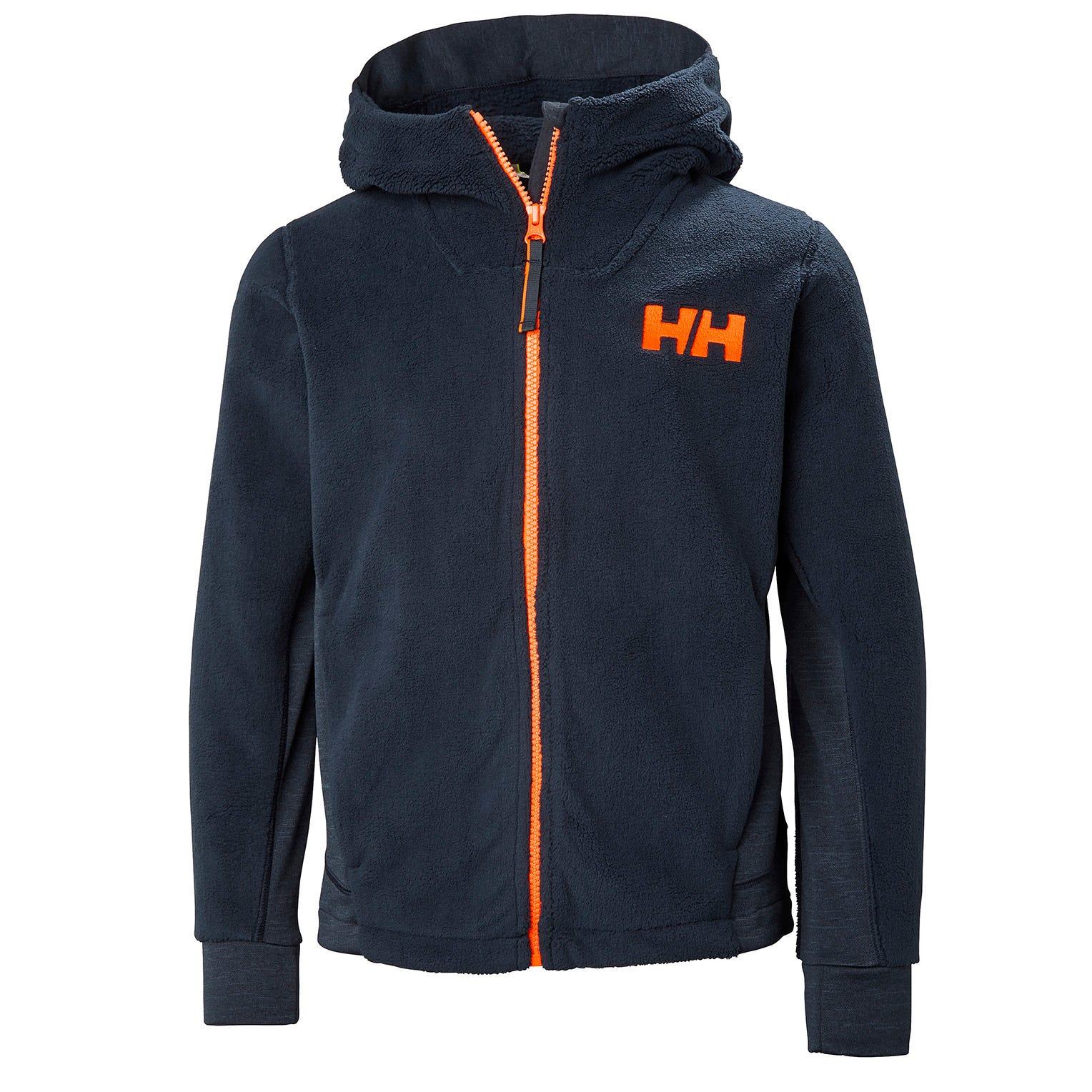 Helly Hansen Junior Chill Fz Hoodie Kids Fleece Navy 128/8