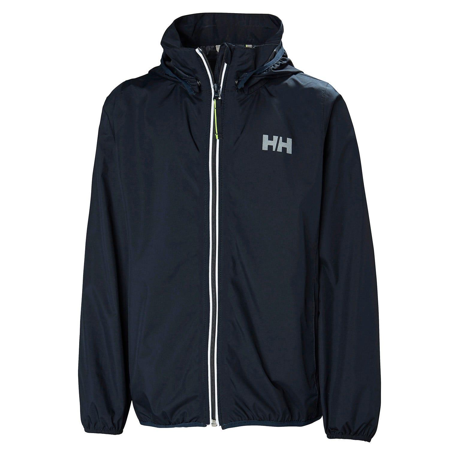Helly Hansen Junior Helium Packable Jacket Kids Rain Navy 152/12