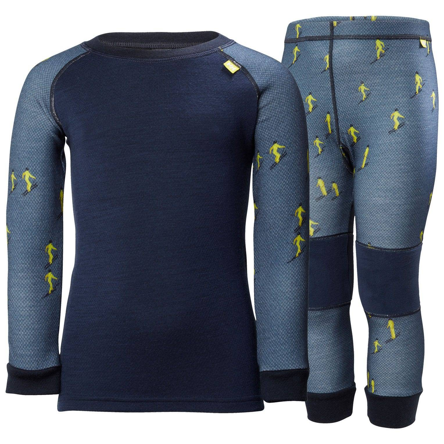 Helly Hansen Kids Lifa Merino Set Baselayer Blue 92/2