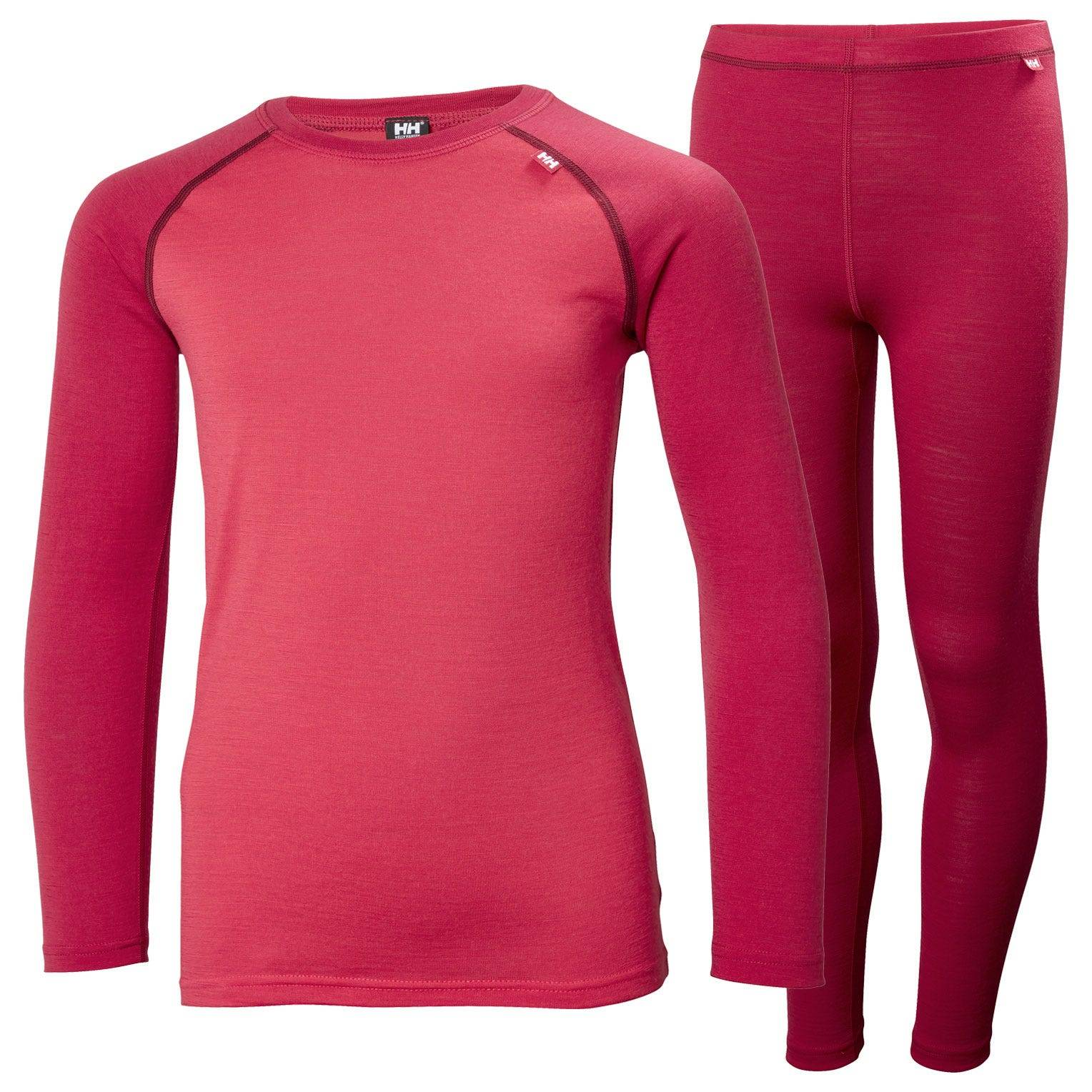 Helly Hansen Junior Merino Mid Set Kids Baselayer Pink 152/12