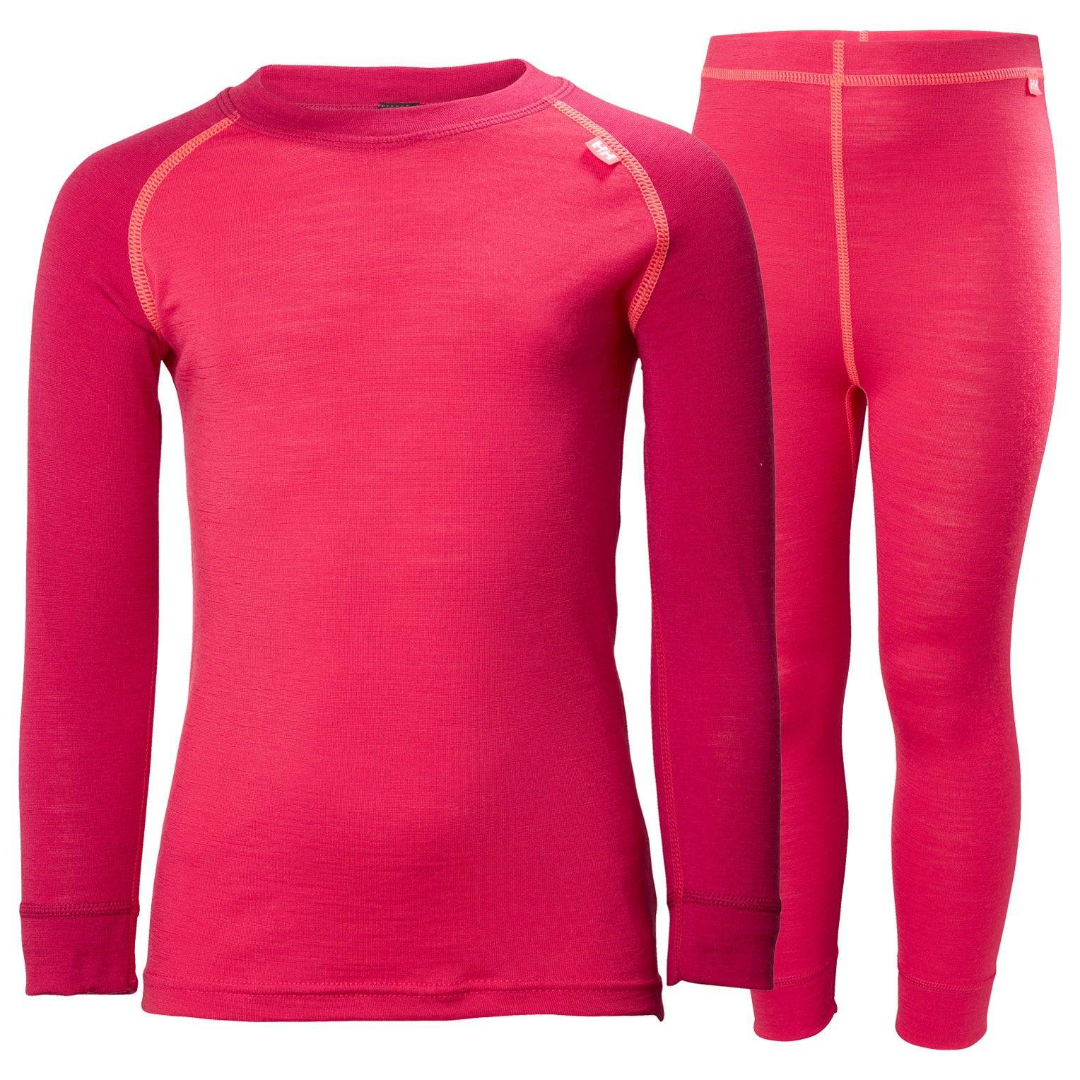 Helly Hansen Kids Merino Mid Set Baselayer Pink 122/7