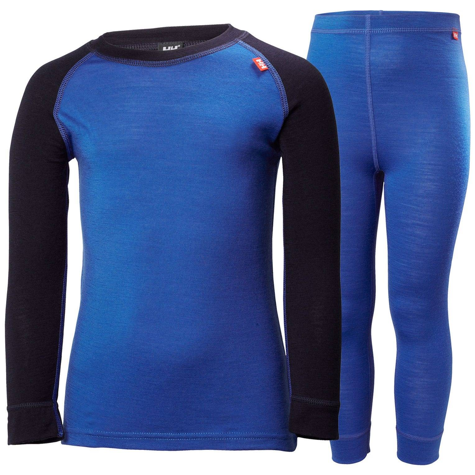 Helly Hansen Kids Merino Mid Set Baselayer Blue 110/5