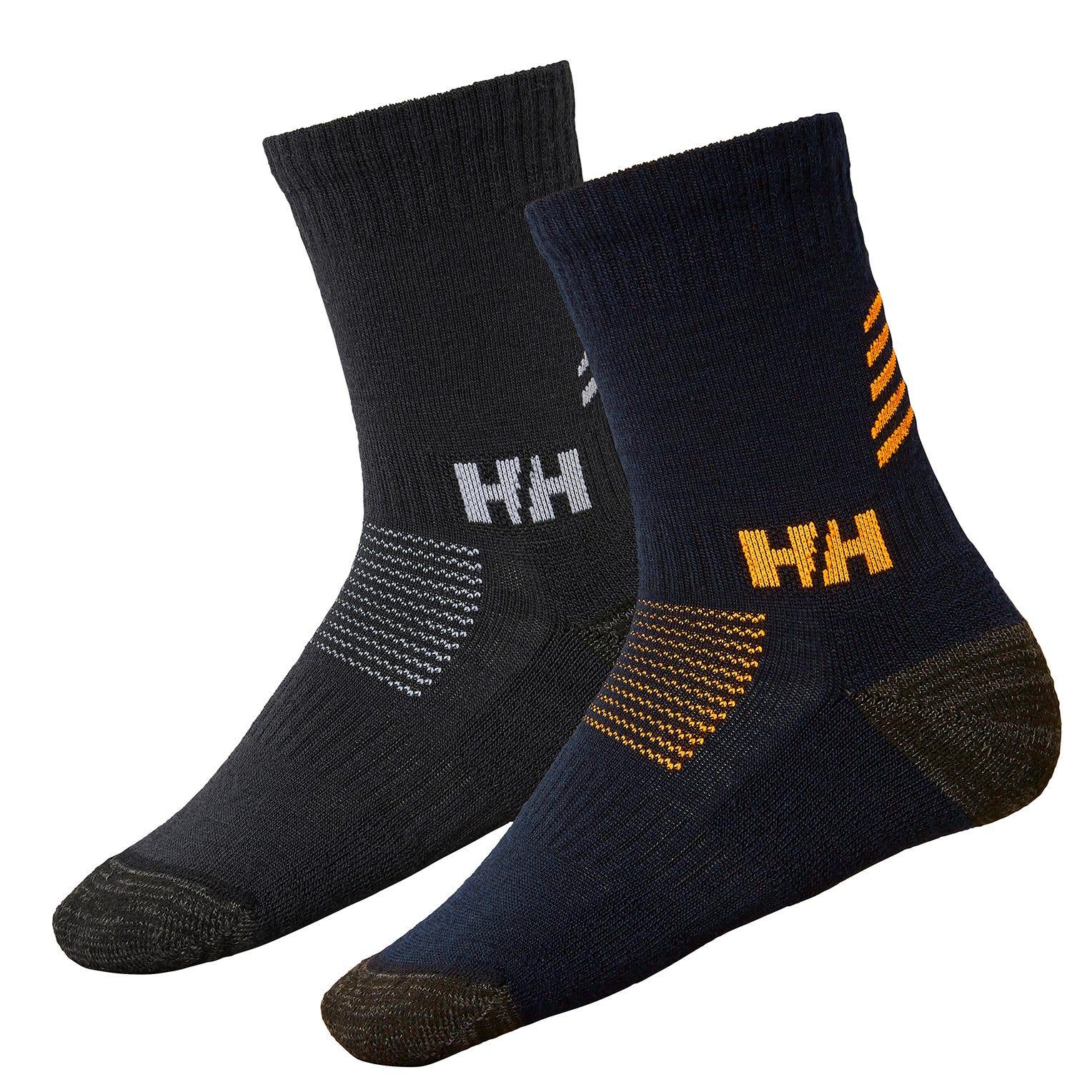 Helly Hansen Junior Lifa Merino 2pack Socks Kids Baselayer Navy 31-34