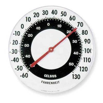 Taylor 68162 Analog Thermometer, -60 Degrees to 120 Degrees F for Wall or Desk
