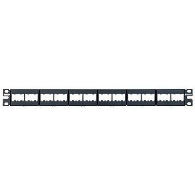 PANDUIT CPP24WBLY Patch Panel,Mini-Com,Rack Mt,24 Port
