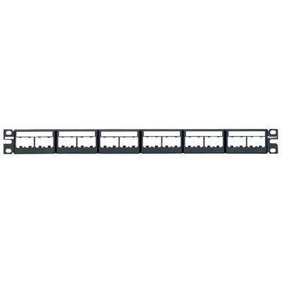 PANDUIT CPPL24WBLY Patch Panel,Mini-Com,Rack Mt,24 Port