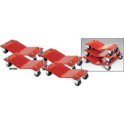 AUTO DOLLY M998002 Car Dollies,12 x 16 In,6000 Lb,PK4