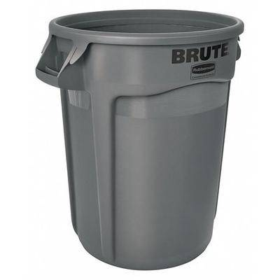 RUBBERMAID FG263200GRAY Brute 32 gal. Gray Polyethylene Round Utility Container