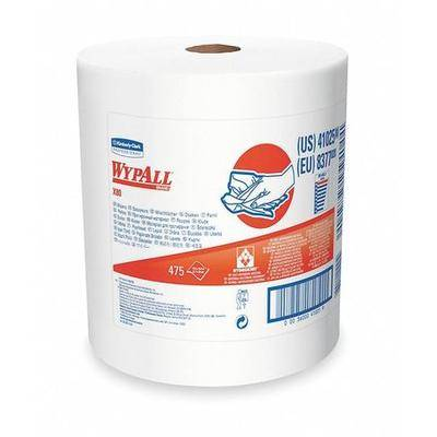 """WYPALL """"WYPALL 41025 Hydroknit Wiper Roll 12-1/2"""""""" x 13-2/5"""""""", White, 475 Sheets"""""""
