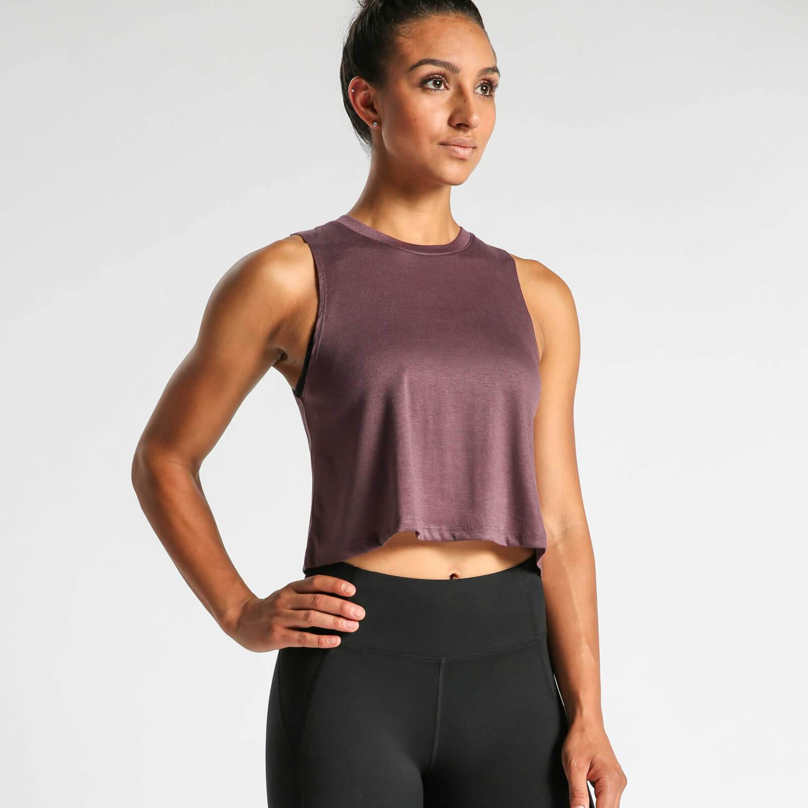 IdealFit Flowy Crop Top - Mauve - L - Purple