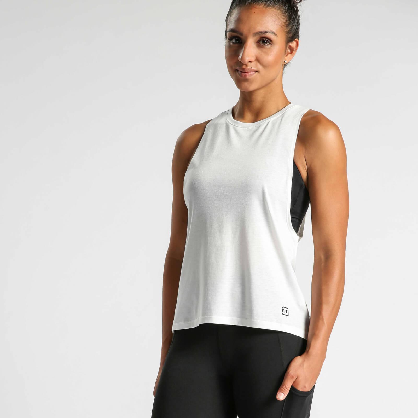 IdealFit Muscle Tank - White - L - White