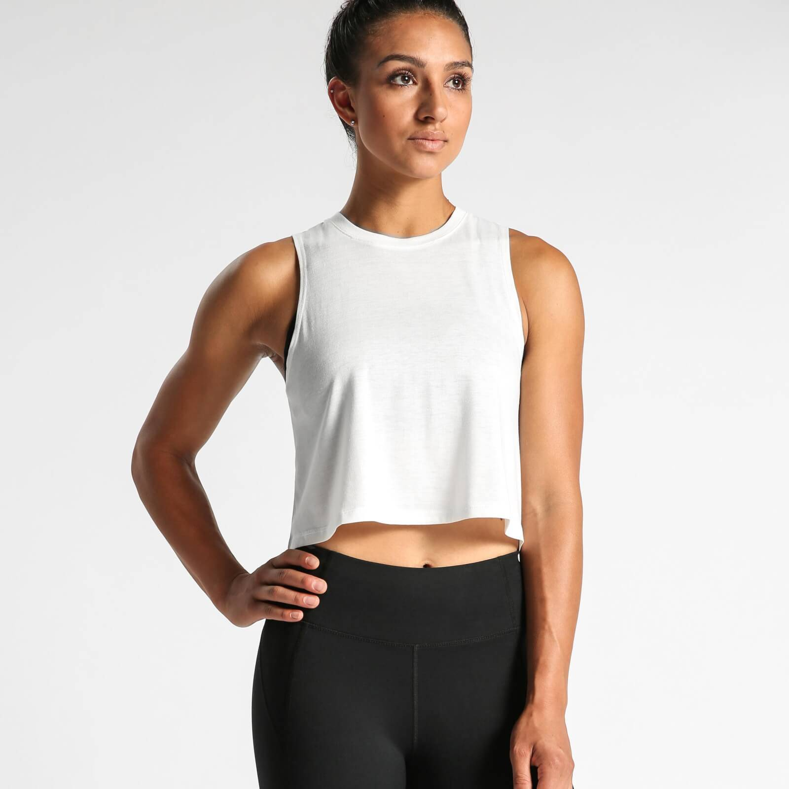 IdealFit Flowy Crop Top - White - L - White