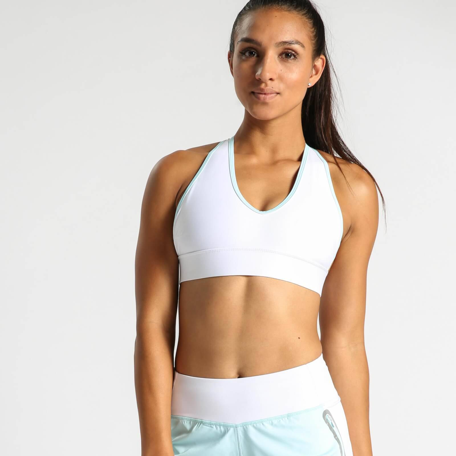 IdealFit Halter Bra with Band - White - S - White