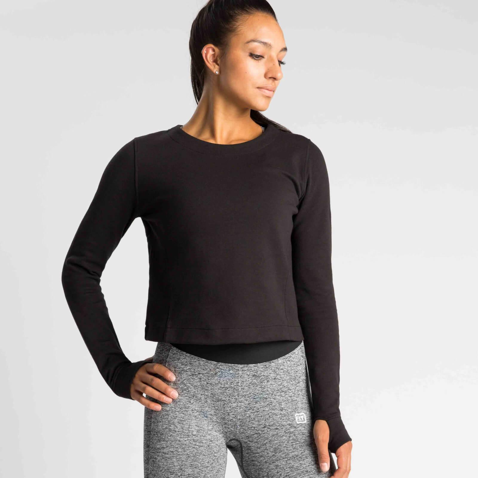 IdealFit Pro Tech Crew Sweatshirt - Black - S - Black