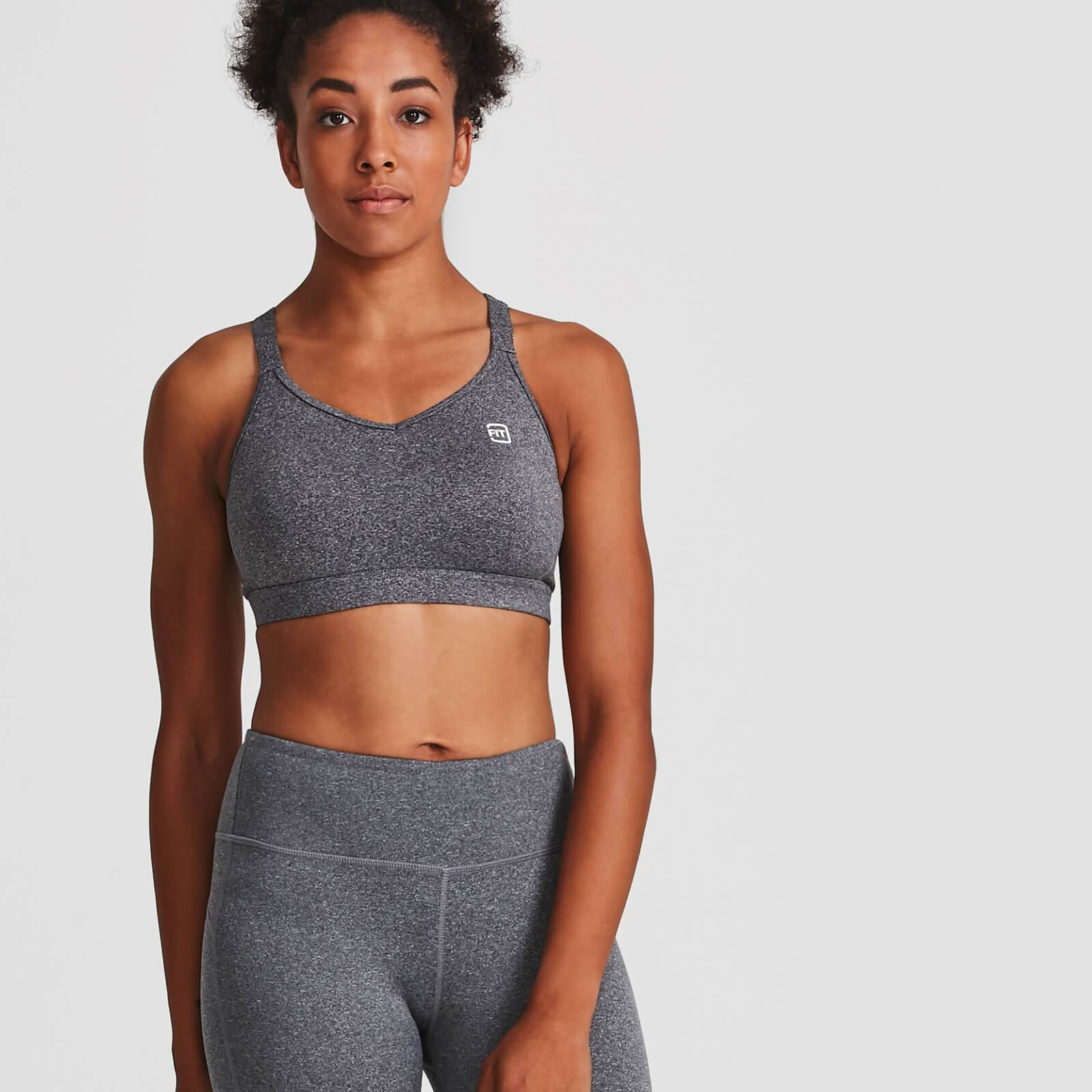 IdealFit Core Sports Bra - Grey - S - Grey