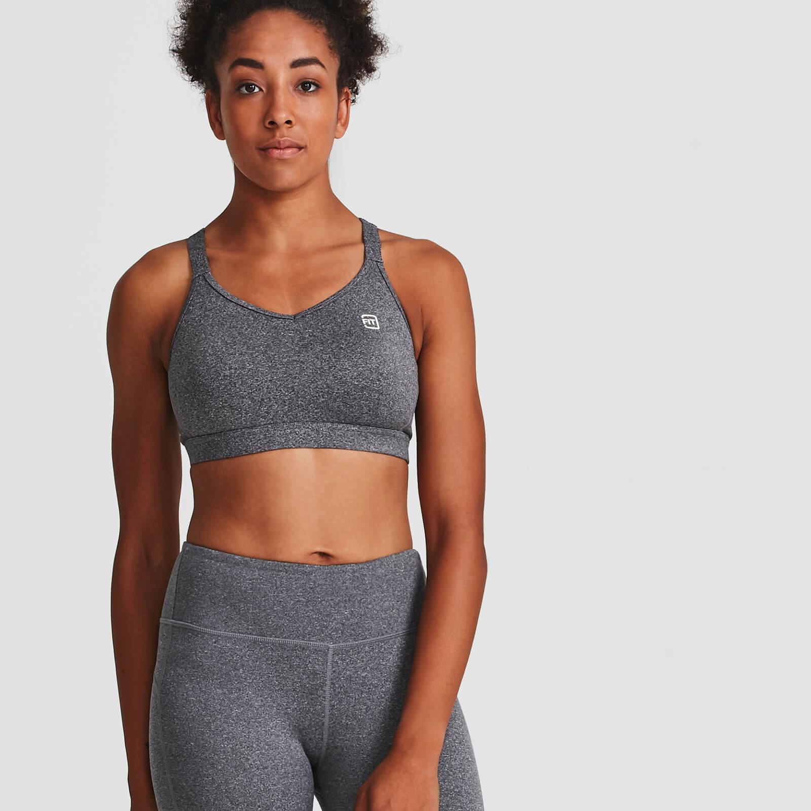 IdealFit Core Sports Bra - Grey - L - Grey
