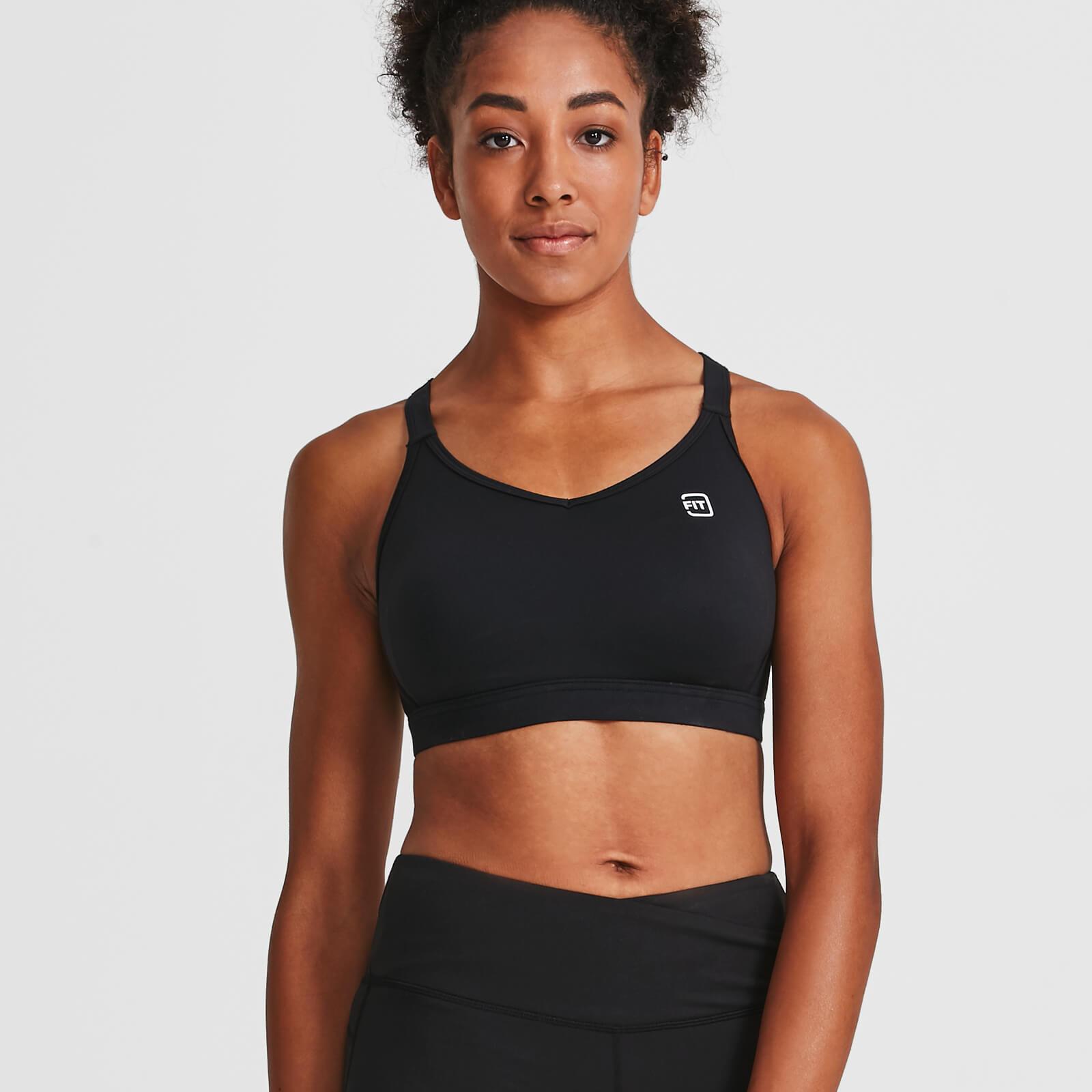 IdealFit Core Sports Bra - Black - S - Black