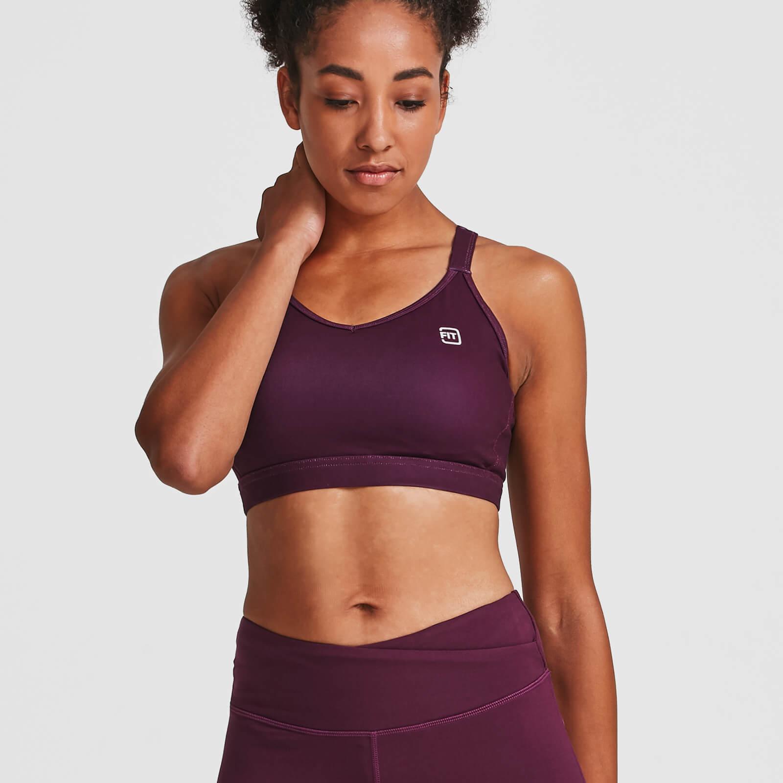 IdealFit Core Sports Bra - Dark Berry - XL - Purple