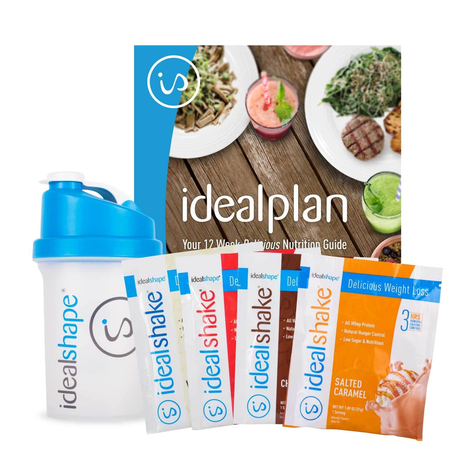 IdealShape 4 Sample Packs, Shaker Bottle, IdealPlan eBook - Child