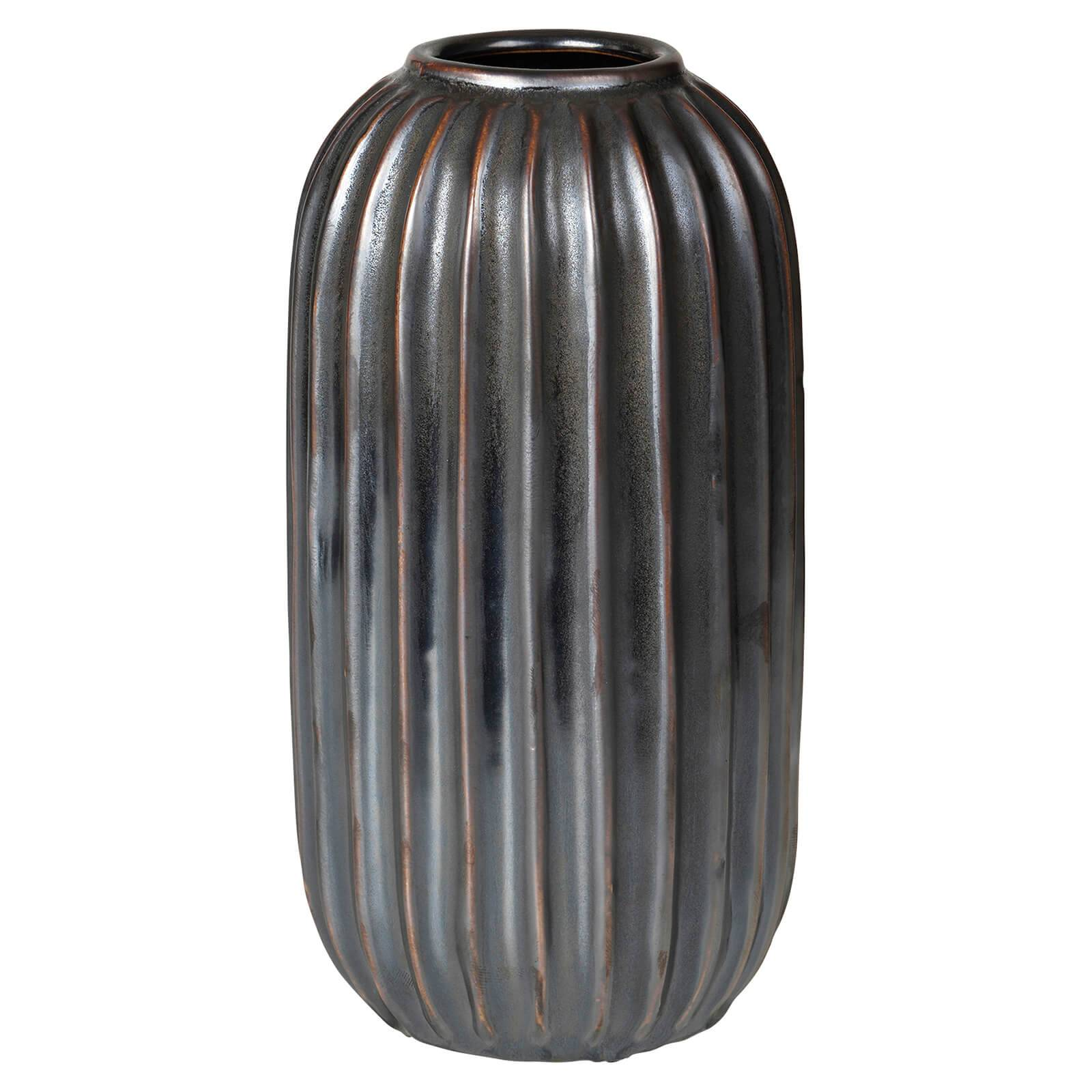 Broste Copenhagen Lines Stoneware Vase