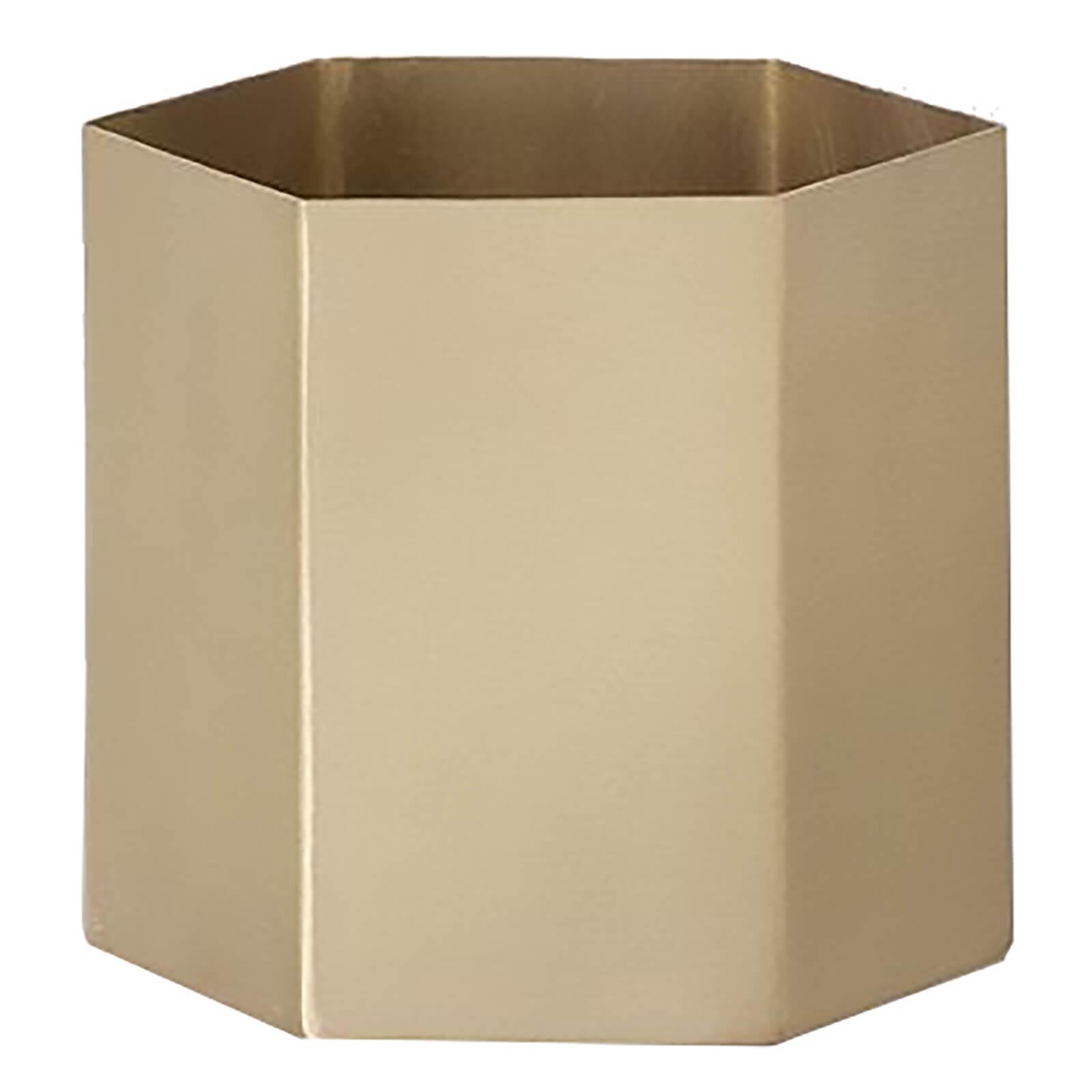 Ferm Living Hexagon Pot - Large - Brass
