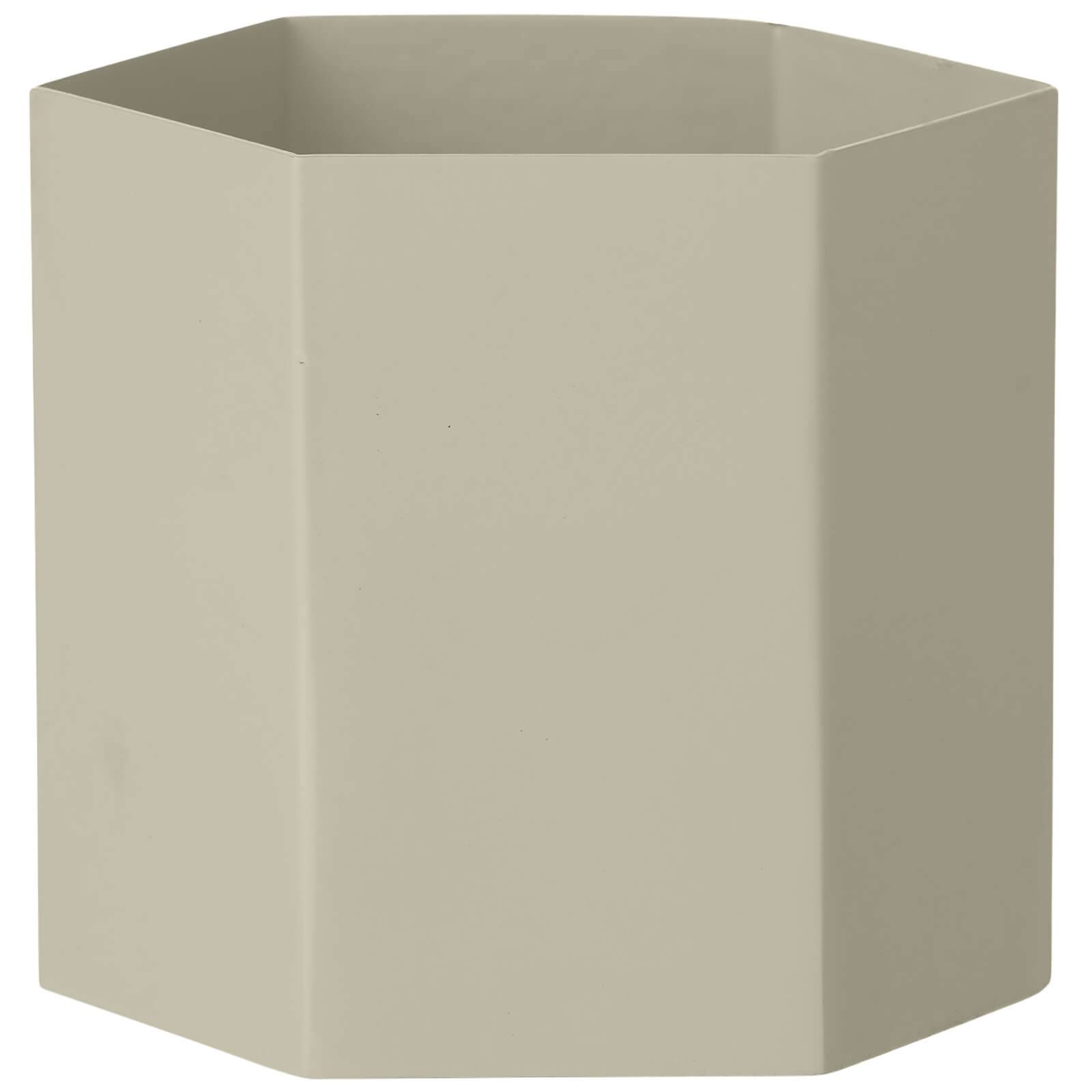 Ferm Living Hexagon Pot - Large - Light Grey