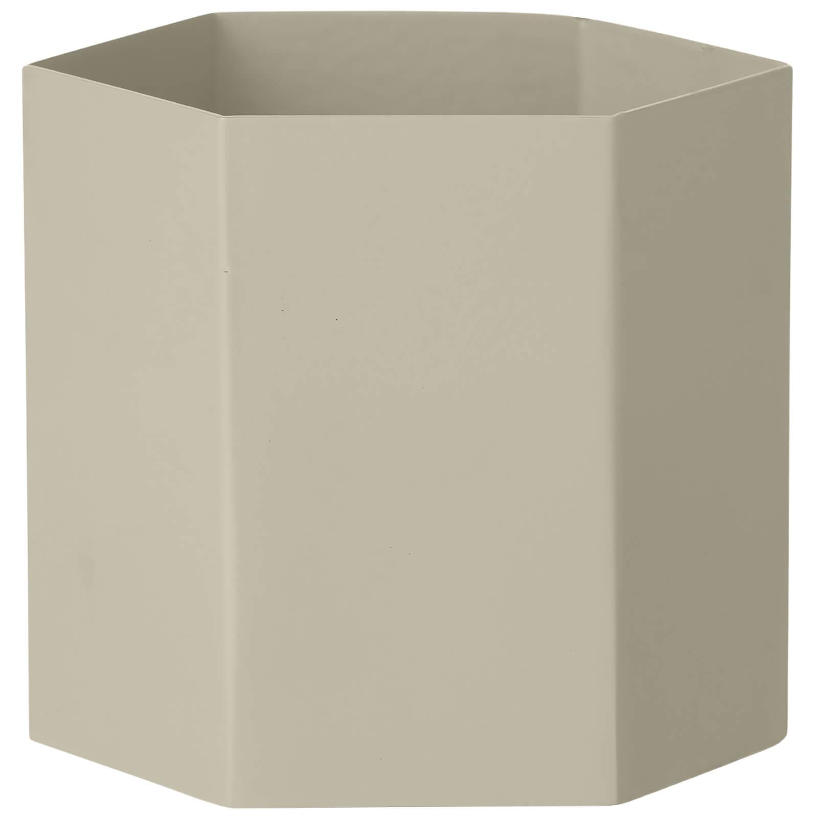 Ferm Living Hexagon Pot - Large - Light Grey