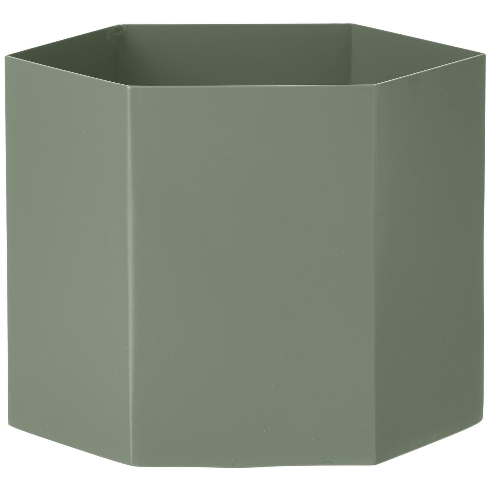 Ferm Living Hexagon Pot - Extra Large - Dusty Green
