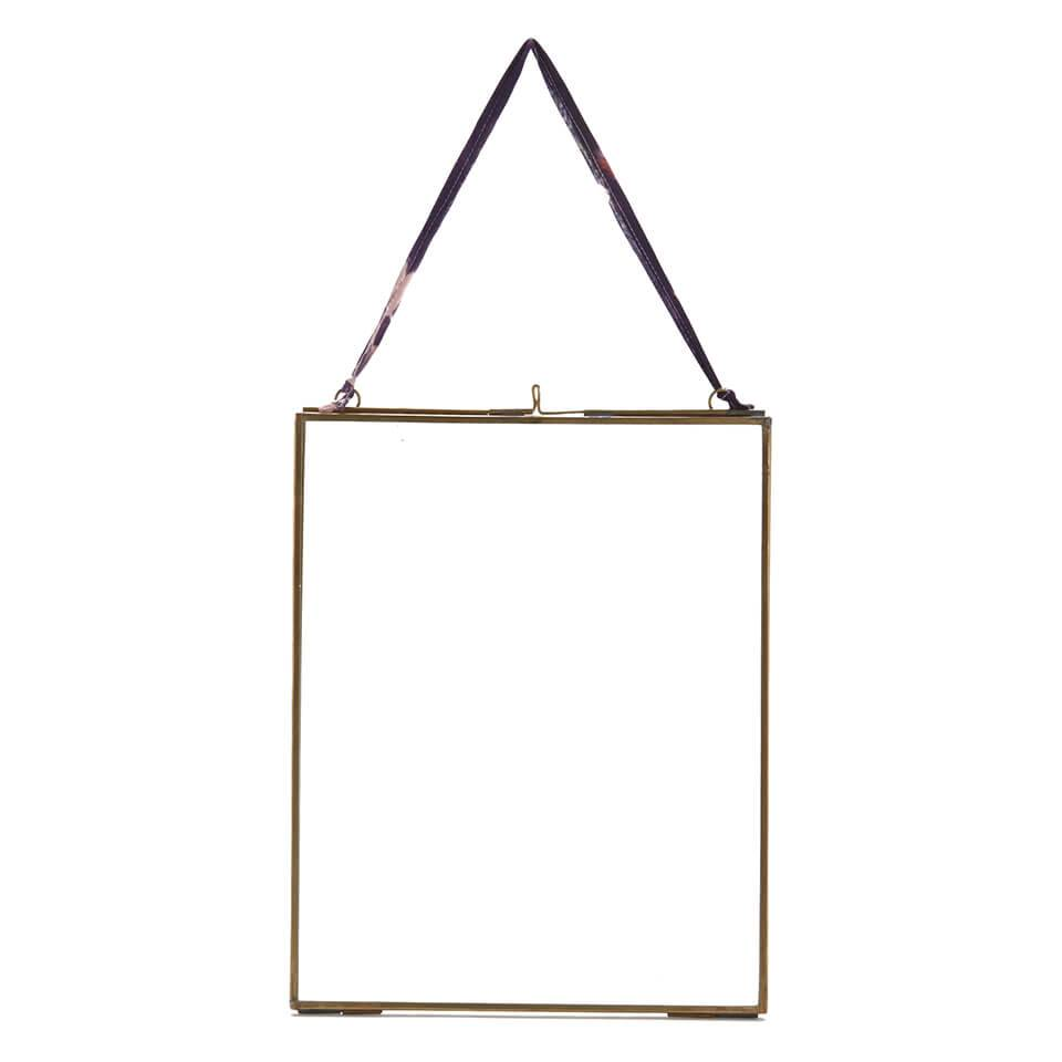 Nkuku Kiko Glass Frame - Antique Brass - Portrait 8  x 10  (20 x 25cm)