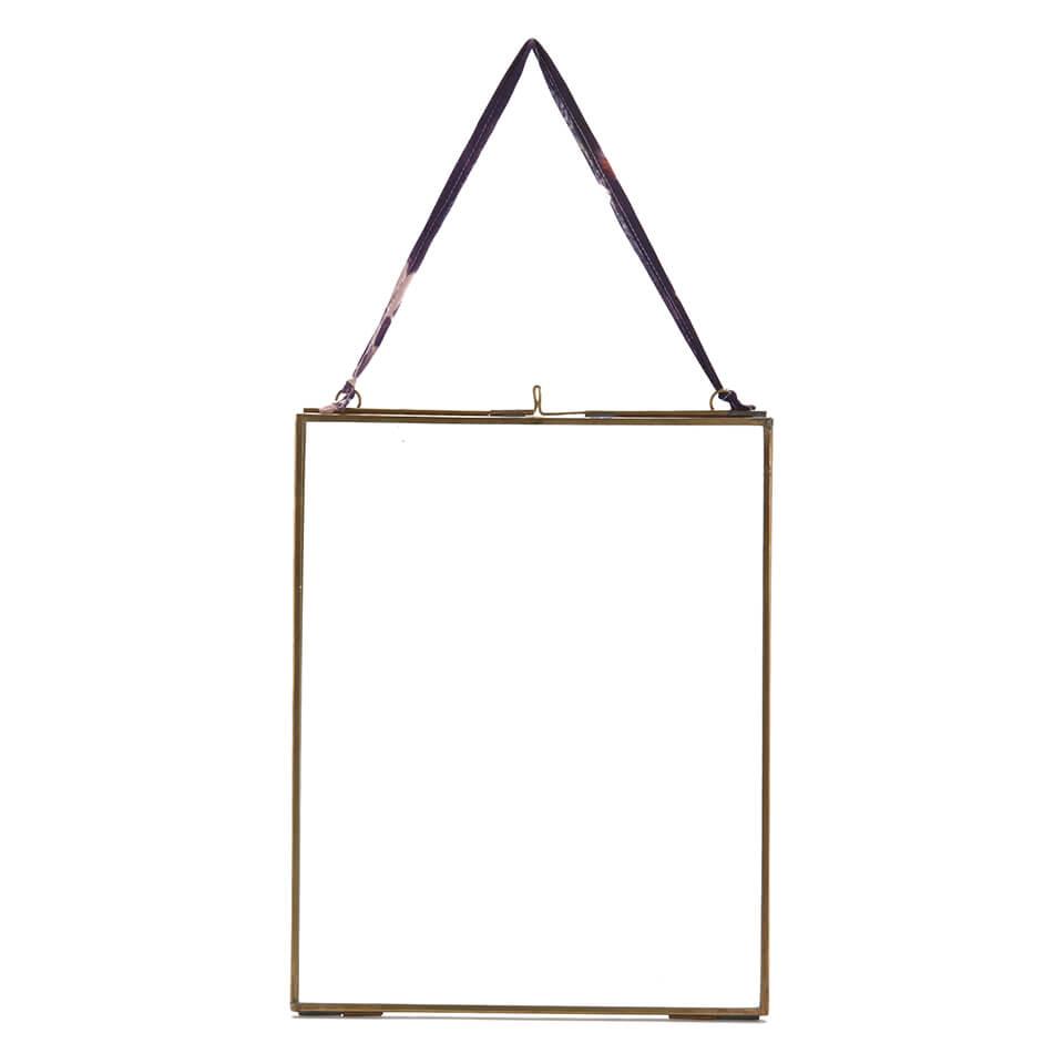 Nkuku Kiko Glass Frame - Antique Brass - Portrait 8  x 10  (20 x 25cm)