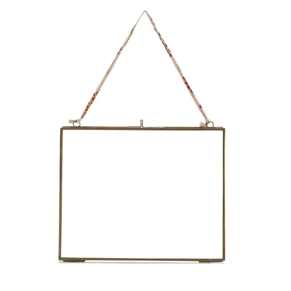 Nkuku Kiko Glass Frame - Antique Brass - Landscape 8  x 10  (20 x 25cm)
