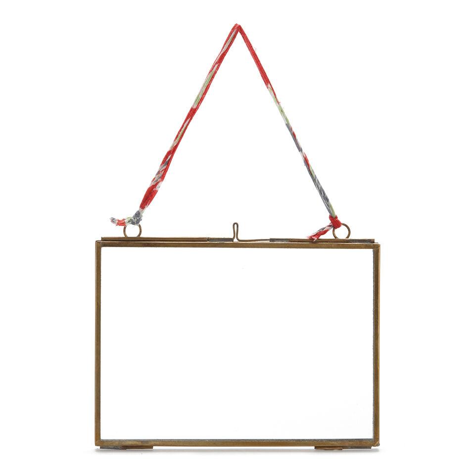 Nkuku Kiko Glass Frame - Antique Brass - Landscape 5  x 7  (13 x 18cm)