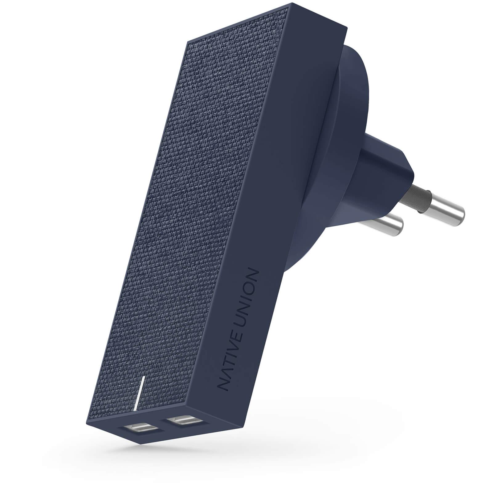 Native Union Smart Dual Port USB Fabric Charger - Marine