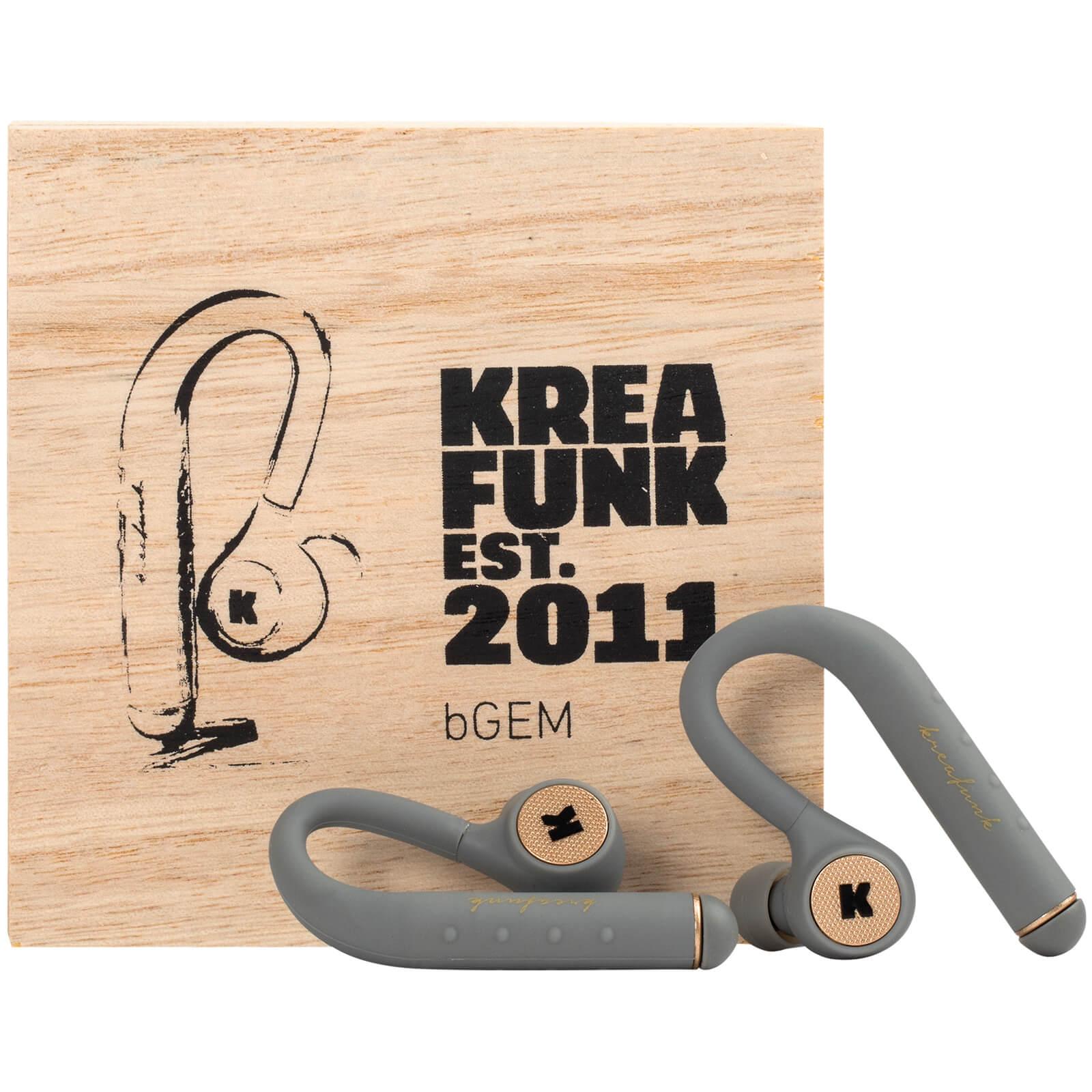 Kreafunk bGEM Bluetooth Wireless In-Ear Headphones - Cool Grey