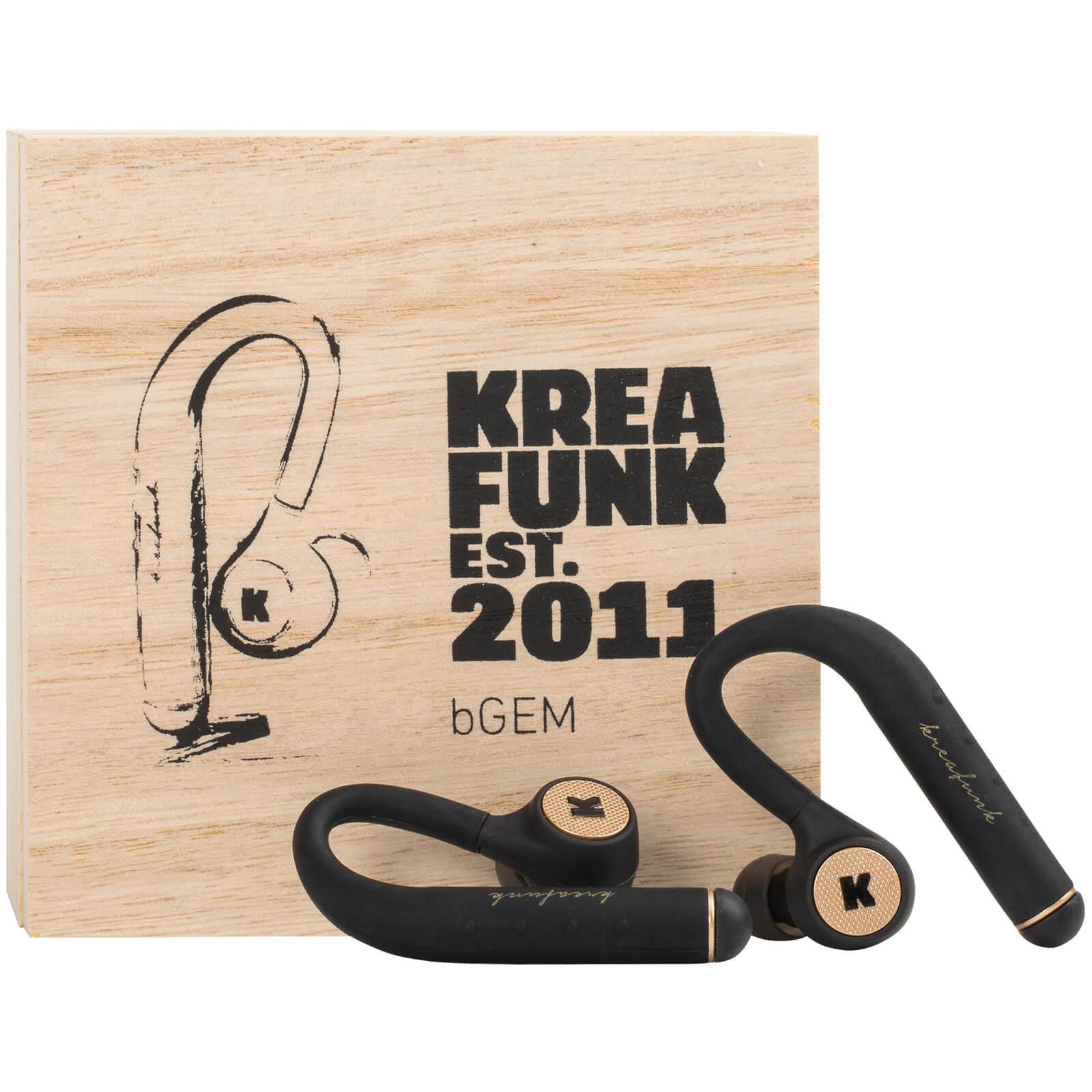 Kreafunk bGEM Bluetooth Wireless In-Ear Headphones - Black/Gold