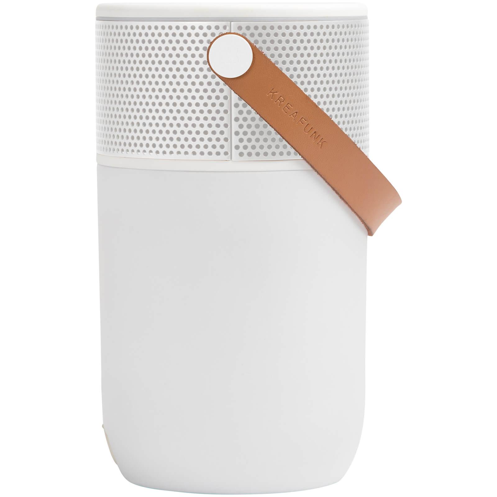 Kreafunk aGLOW Multifunctional Bluetooth Speaker - White