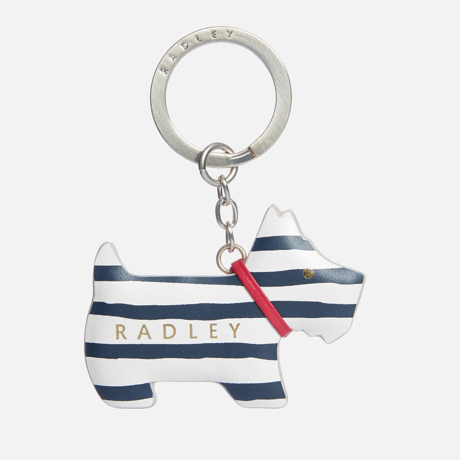 Radley Women's Go Walkies-Stripe Keyring - Chalk