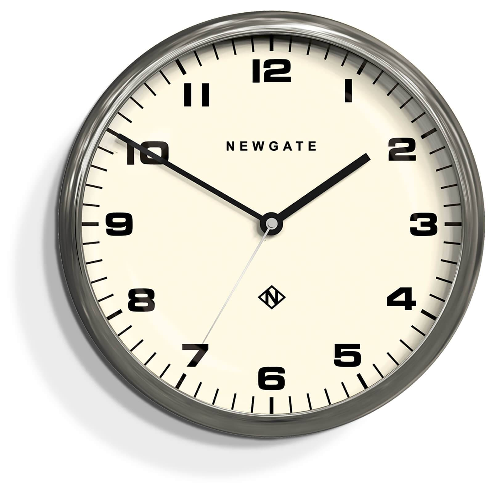 Newgate Chrysler Silent Wall Clock - Burnished Stainless Steel