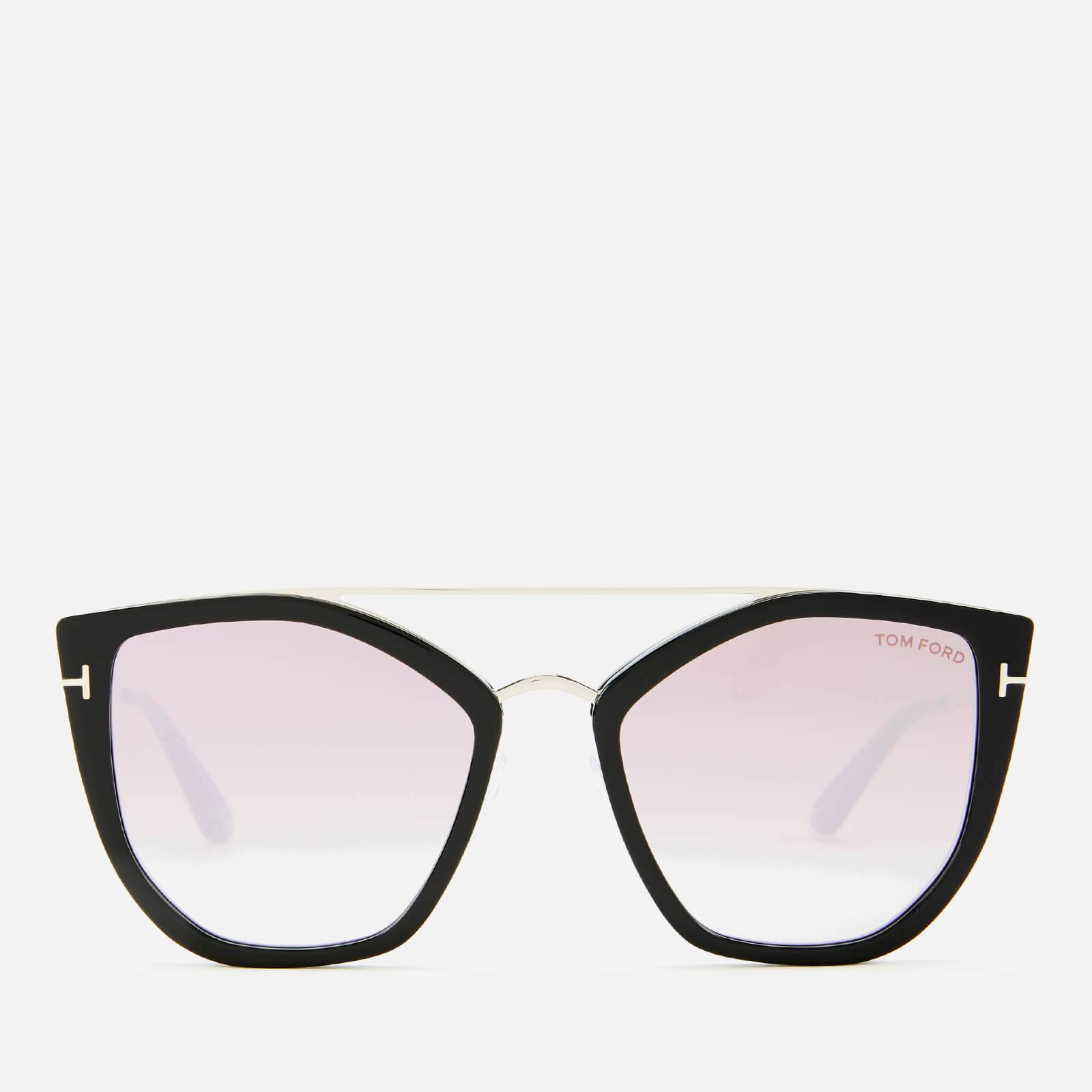 Tom Ford Women's Dahlia Sunglasses - Shiny Black/Gradient or Mirror Violet