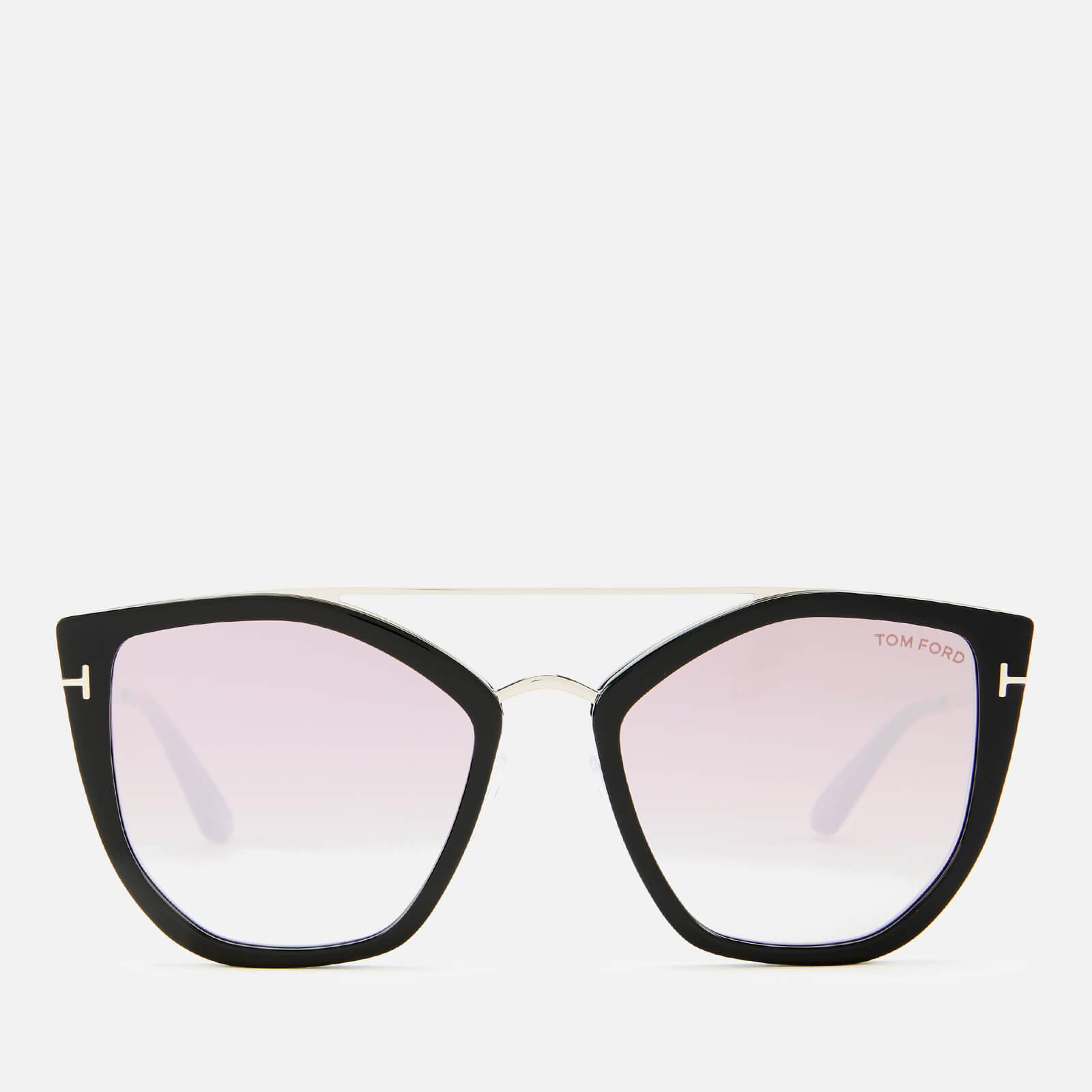 Tom Ford Women's Dahlia Sunglasses - Shiny Black/Gradient or Mirror Violet