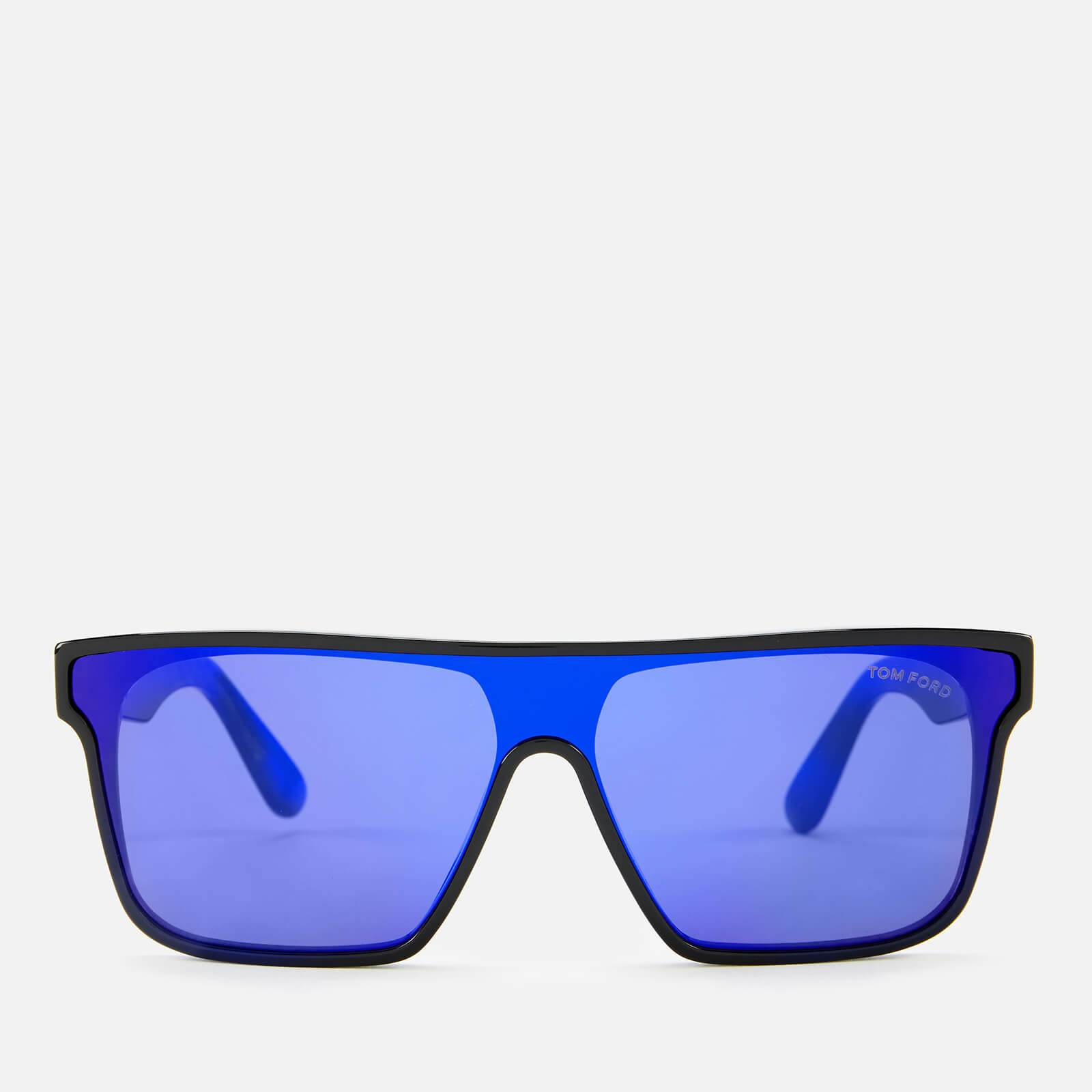 Tom Ford Women's Whyat Sunglasses - Shiny Black/Gradient or Mirror Violet